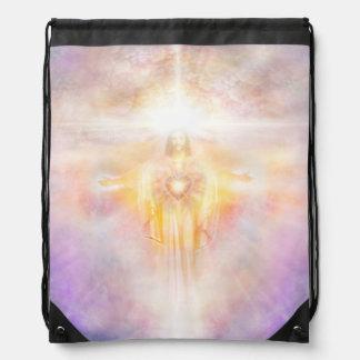 H041 Jesus Heart Drawstring Bag