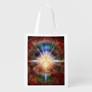 H047 Batleth Meditator 9 Reusable Grocery Bag