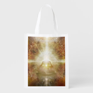 H048 Meditator Brown Grocery Bag