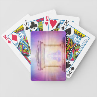 H049 Know Thy Self Magenta Bicycle Playing Cards