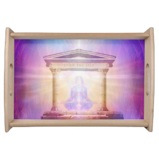 H049 Know Thy Self Magenta Serving Tray