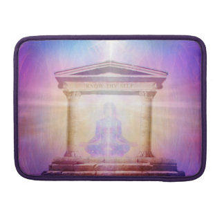 H049 Know Thy Self Magenta Sleeve For MacBook Pro