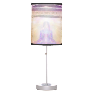 H049 Know Thy Self Magenta Table Lamp