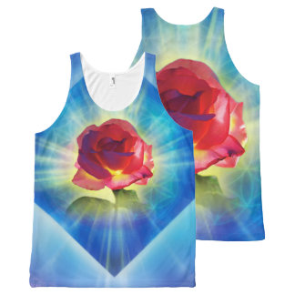 H053 Forgiveness Day Rose All-Over-Print Tank Top