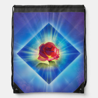 H053 Forgiveness Day Rose Drawstring Bag