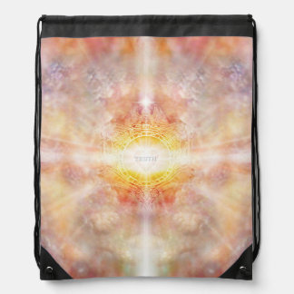 H055 Crest of Truth Drawstring Bag