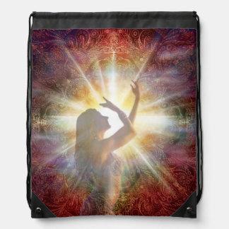H058 Jacqui Red Horizon Drawstring Bag