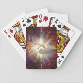 H058 Jacqui Red Horizon Playing Cards