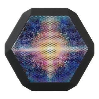 H066 Mandala Blue 5 Black Bluetooth Speaker