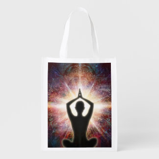 H067 Mandala Salutation 2013 Reusable Grocery Bag