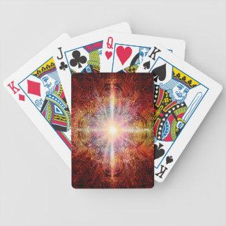 H069 Mandala Deep Orange 2 Bicycle Playing Cards