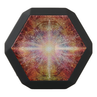 H069 Mandala Deep Orange 2 Black Bluetooth Speaker