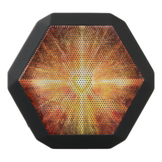 H070 Mandala Deep Orange Black Bluetooth Speaker