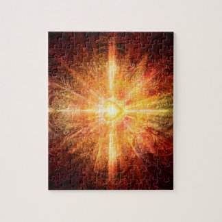 H070 Mandala Deep Orange Jigsaw Puzzle