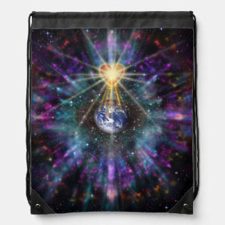H077 One Earth One Heart 2017 Drawstring Bag