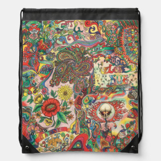 H081 Psychedelic 1969 Drawstring Bag
