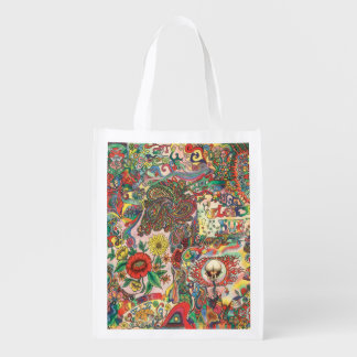 H081 Psychedelic 1969 Grocery Bag