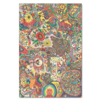 H081 Psychedelic 1969 Tissue Paper