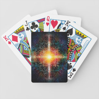 H103 Heart Mandala Colors 3 Bicycle Playing Cards