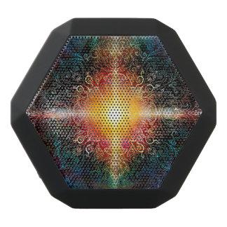 H103 Heart Mandala Colors 3 Black Bluetooth Speaker