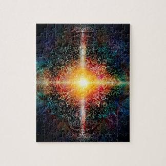 H103 Heart Mandala Colors 3 Jigsaw Puzzle