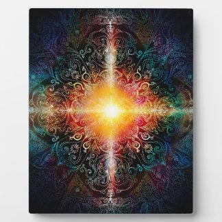 H103 Heart Mandala Colors 3 Plaque