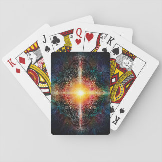 H103 Heart Mandala Colors 3 Playing Cards