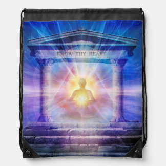 H110 Know Thy Heart Temple Night Drawstring Bag