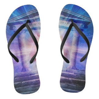 H110 Know Thy Heart Temple Night Flip Flops