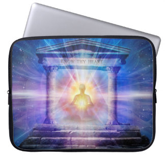 H110 Know Thy Heart Temple Night Laptop Sleeve