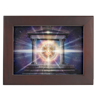 H111 Heart Temple Night Keepsake Box