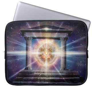 H111 Heart Temple Night Laptop Sleeve