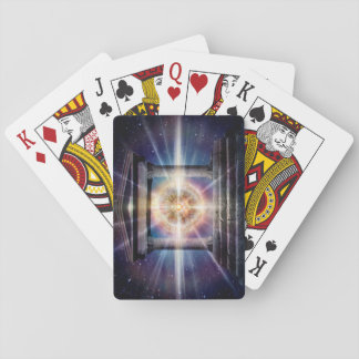 H111 Heart Temple Night Playing Cards