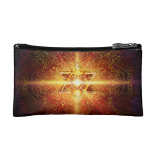 H113 Heart in Star Red Makeup Bag