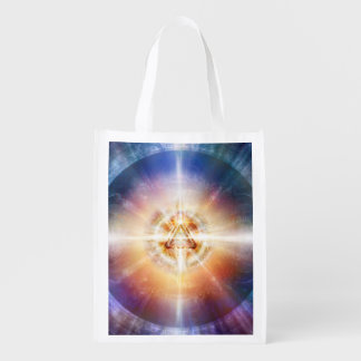 H114 Star Triangle Orb Reusable Grocery Bag