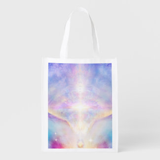 H117 Adele Angel Top Reusable Grocery Bag