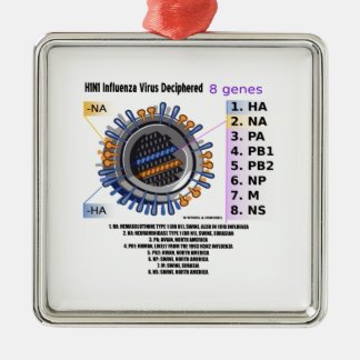 H1N1 Influenza Virus Deciphered (Health) Metal Ornament
