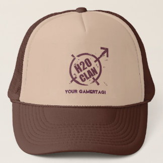 H20 Hat- Purple Logo Trucker Hat