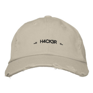 .:: H4CK3R::. EMBROIDERED HAT
