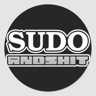 H4cked sudo sticker