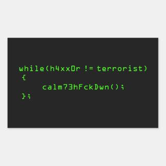 h4xx0r != terrorist sticker