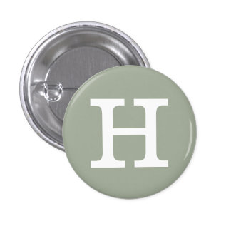 'H' Alphabet Collectible (#8) 1 Inch Round Button
