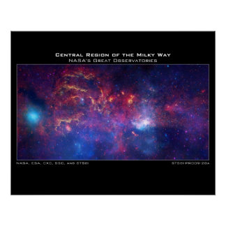 H Central Region of the Milky Way Print