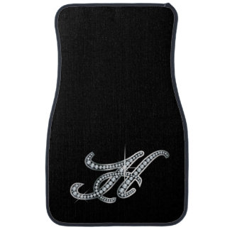 H Faux-Diamond Bling Car Mat
