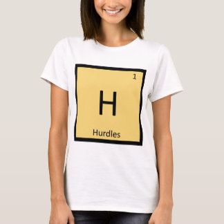 H - Hurdles Track and Field Chemistry Symbol T-Shirt
