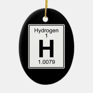 H - Hydrogen Ceramic Ornament