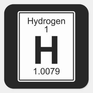 H - Hydrogen Square Sticker