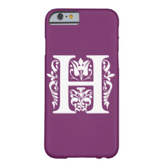 H Initial letter Monogram - paper cut style Barely There iPhone 6 Case