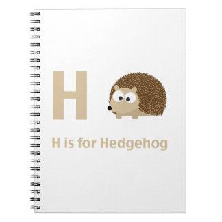 H is for Hedgehog Notebook