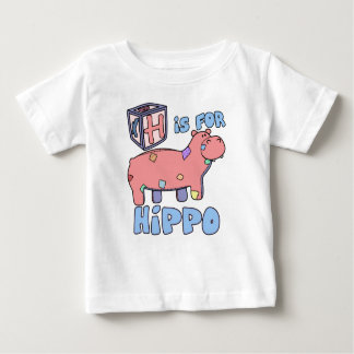 H is for Hippo Baby T-Shirt